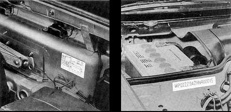 identification du v hicule caract ristiques techniques manuel technique porsche 944. Black Bedroom Furniture Sets. Home Design Ideas